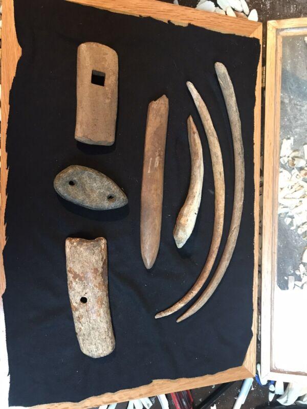 Rare Authentic Native American Indian Artifacts Deer Antlers Bones