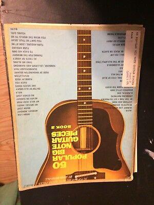 50 POPULAR BIG NOTE GUITAR PIECES BOOK 2 SHEET MUSIC BOOK 1966