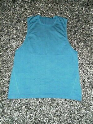 Lululemon Men's L/Large Metal Vent Tech Blue Sleeveless Tank