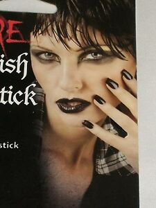 Halloween-Costume-Black-Vampire-Polish-Lip-Stick-Theater-Prop-Stage