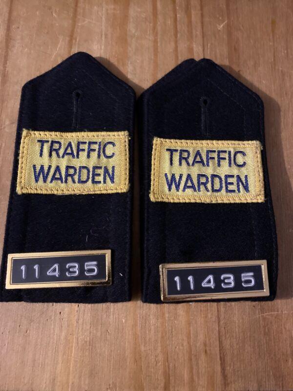 Obsolete Ex Police Epaulettes. Used. 1251