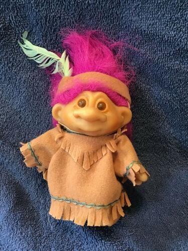 1986 5 Inch DAM Native American Troll Doll