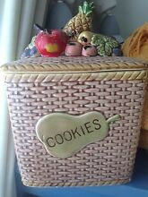 GLAZED CERAMIC VINTAGE COOKIE JAR MADE IN JAPAN Concord Canada Bay Area Preview