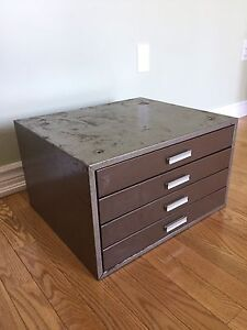 Vintage Metal Machinist Tool Cabinet - Storage Unit
