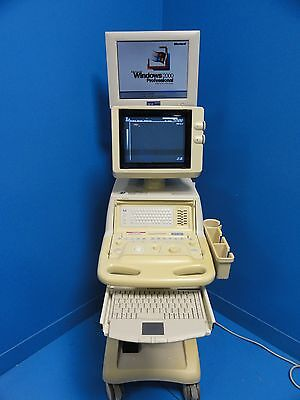 Toshiba Just Vision 400 Ssa-325a Diagnosic Vet Ultrasound W Computer Monitor
