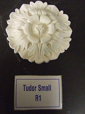"Plaster Ceiling Rose 'Small Tudor' Design 6 1/4"" (160mm) diameter"