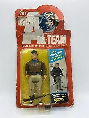 Vintage 1983 Galoob The A-Team Action Figure Murdock Soldiers Of Fortune Living