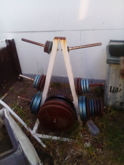 Weights & stand $150.00