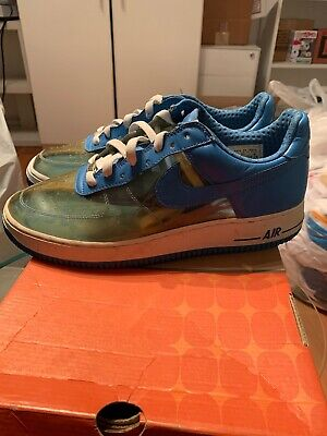 Men's Nike Air Force 1 SZ 10.5 313641-941 Fantastic 4 Invisible Woman Clear (Invisible Forces)
