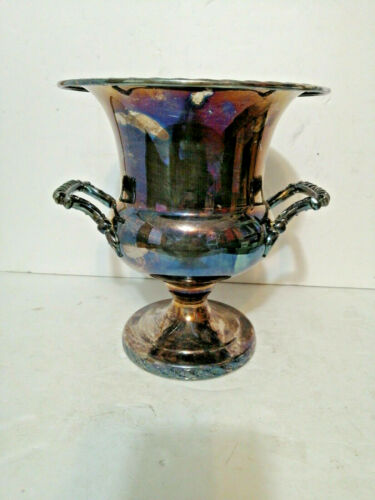 "Vintage Wm Rogers & Son Silver Ice Bucket/Cooler ""Spring Flower"" #2051"