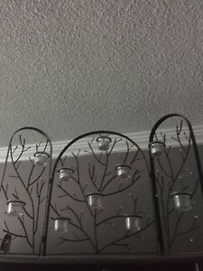 Wrought iron tea light candle holder decoration