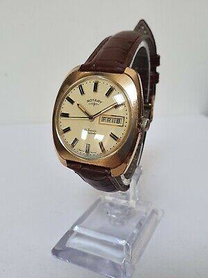 Vintage ROTARY 21 Jewel Automatic Day/Date Mens Watch - Fully Working