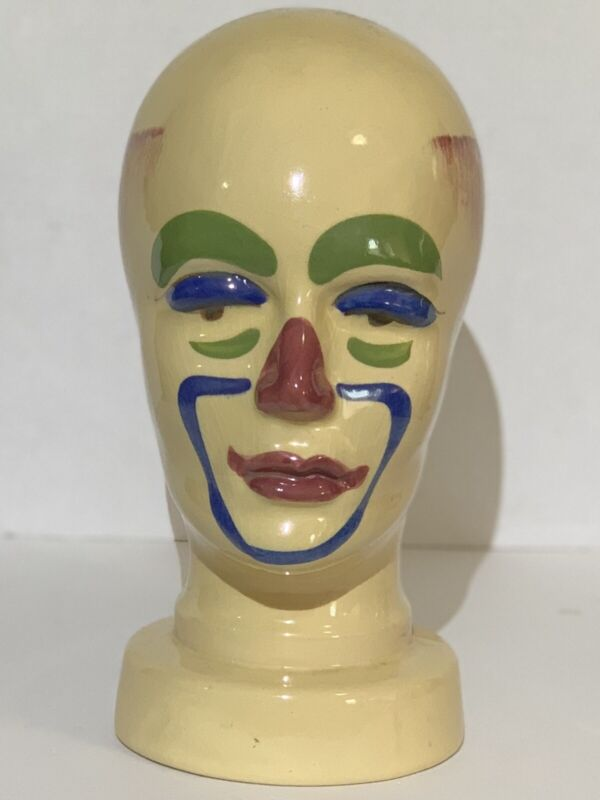 Vintage West Germany Pop Art Deco Unique Head Bust----Very Cool! Possibly 70s!