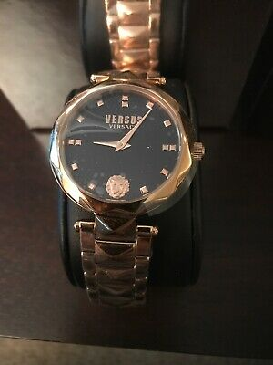 Versus Versace Womens Covent Garden Watch SCD130016 Rosetone Navy Rare Watch