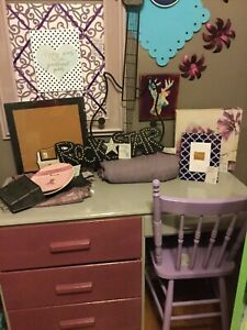 Purple & grey desk- available
