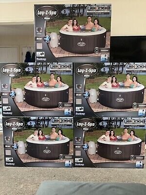 Lazy -z-spa Miami Air Jet Inflatable Hot Tub Jacuzzi 2-4 Person Brand New Boxed