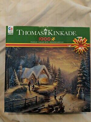 """NIB Thomas Kinkade """"Country Christmas Homecoming"""" 1000 Piece Jig Saw Puzzle..."""