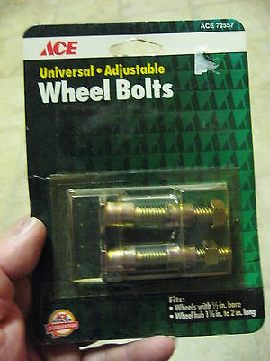(2 ACE Universal Lawn Mower Adjustable Wheel Bolts 1/2