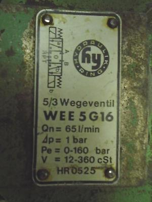Used 5-3-wegeventil Hydraulic Valve Wee5g16