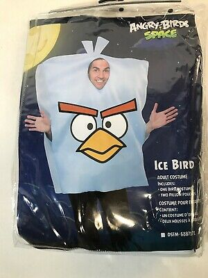 ANGRY BIRDS ICE BIRD ADULT COSTUME ONE SIZE FITS MOST EUC](Angry Bird Adult Costume)