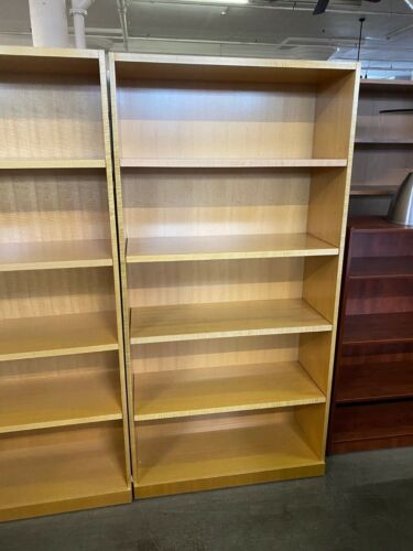 """36""""W x 15""""D x 72""""H Bookcase by Geiger Office Furniture in Maple finish wood"""