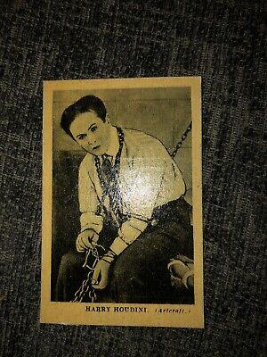 Harry Houdini Boys Cinema Famous Heroes Card