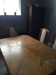 Solid used dining room table