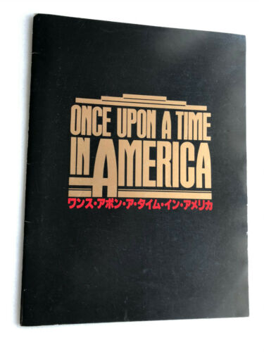 "Sergio Leone,Robert De Niro ""Once Upon a Time in America"" movie souvenir program"