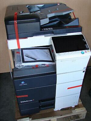 New Konica Minolta Bizhub C458 Laser Color Bw Printer Scanner Copier Read Below