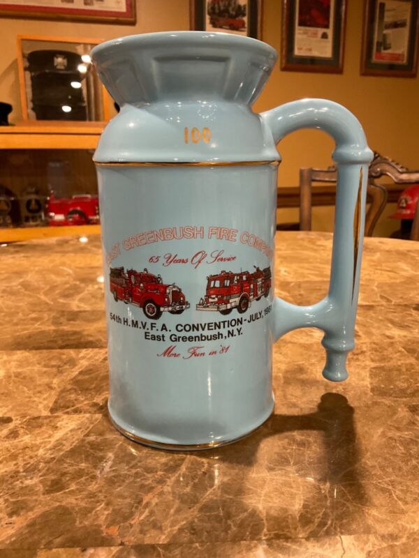 Ceramic East Greenbush Fire Company Fire Convention Beer Stein