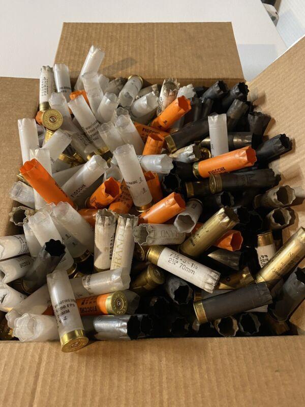 228 EMPTY Used Shotgun Shells 12 ga All Brass Base Crafting Mixed Brands