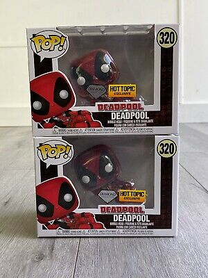 FUNKO POP! DEADPOOL #320 Casual DIAMOND GLITTER  HOT TOPIC + .5mm Pop Protector