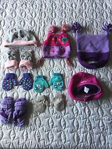 Brand Name Hats and Mitts Size 2-4