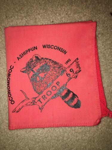 Boy Scout  Troop 69 Raccoon Ashippun Three Harbors Wisconsin Council Neckerchief