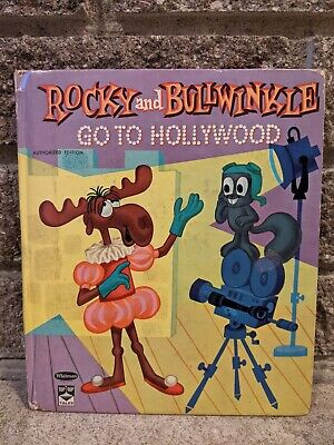 ROCKY and BULLWINKLE GO TO HOLLYWOOD by EILEEN DALY Whitman Tip Top Tales 1961