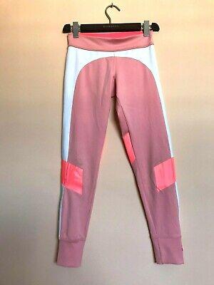 STELLA MC CARTNEY SPORT Pink White Leggings size S Running Yoga Ballet Pilates for sale  Shipping to Nigeria