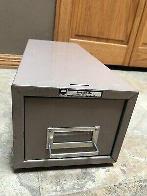 Vintage Steelmaster Single Drawer Industrial Index Card File Cabinet