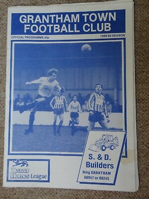 Grantham Town Vs Willenhall Football Programme Beazer Homes League 4 11 1989