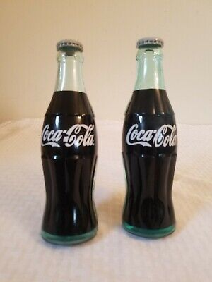 Coca Cola Original Coke Bottle Door Push Handle hardware matched pair vintage