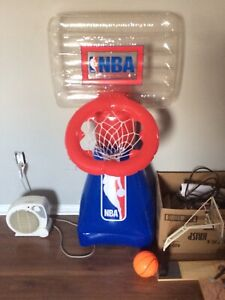 Air and water filled basketball net