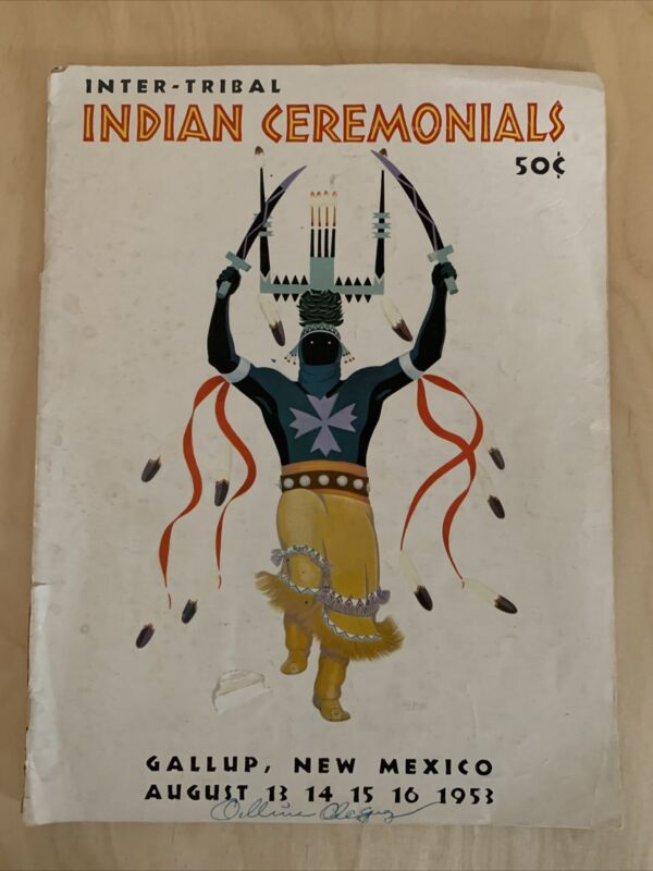 1953 INTER-TRIBAL INDIAN CEREMONIALS MAGAZINE - NICE - Beautiful Color Images