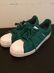 Green adidas superstar size 13