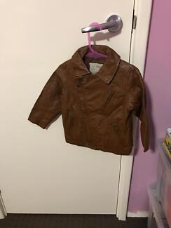 Boys leather jacket size 12-18 months