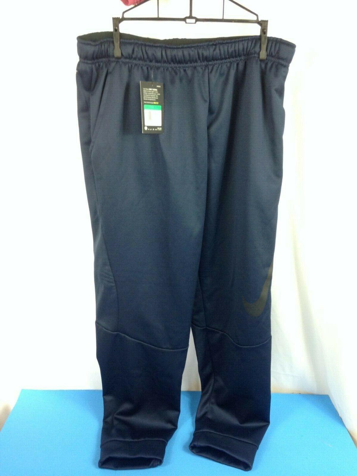 NEW Men/'s Nike Therma Swoosh Training Dri Fit Pants Tapered AQ2715 Black XL