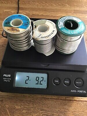 5050 2 Lb 9 Oz. Solid Wire Solder Lot Of 3