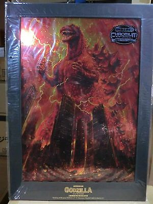 GODZILLA CHROMIUM POSTER COLLECTION KING OF MONSTER VS 1966 NEW SEALED RARE