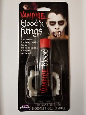 Vampire Blood N` Fangs Costume Makeup Halloween Theater FREE SHIPPING!!!