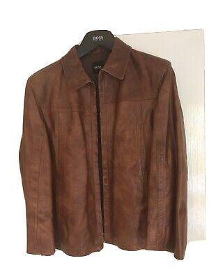 Hugo Boss Mens Leather Jacket Medium