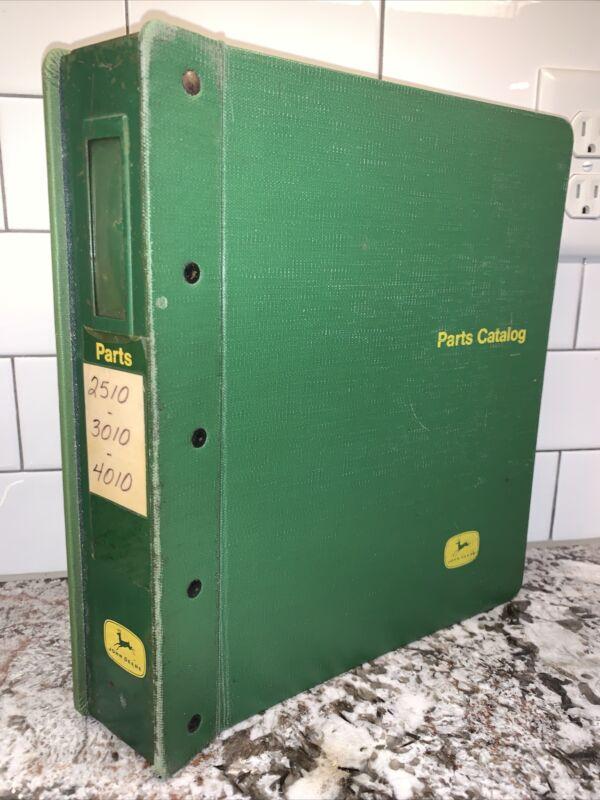 Vtg 70s Parts Catalog JOHN DEERE Tractor 2510 3010 4010 Series SET Book Dealer