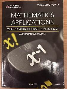 Maths Applications Yr 11 and Yr 12 Hill Mount Pleasant Barossa Area Preview